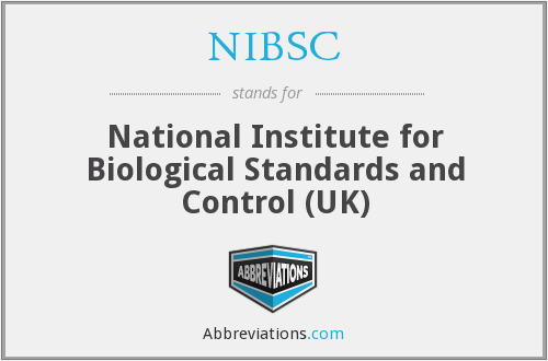 What does NIBSC stand for?