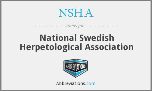 What does NSHA stand for?