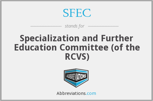 What does SFEC stand for?
