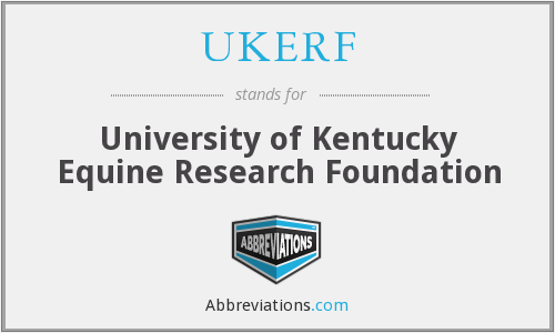 What does UKERF stand for?