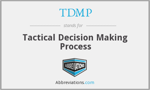 What does TDMP stand for?