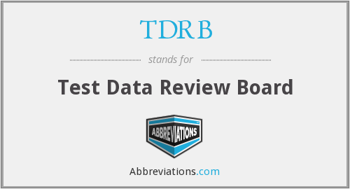 What does TDRB stand for?