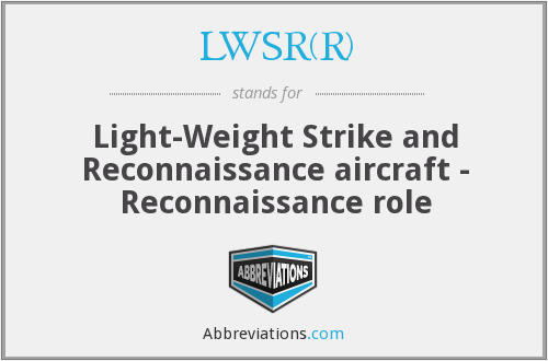 What does LWSR(R) stand for?