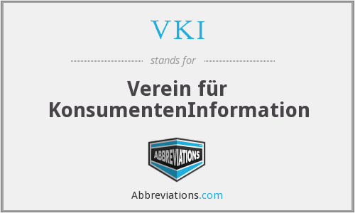 What does VKI stand for?