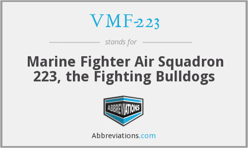 What does VMF-223 stand for?