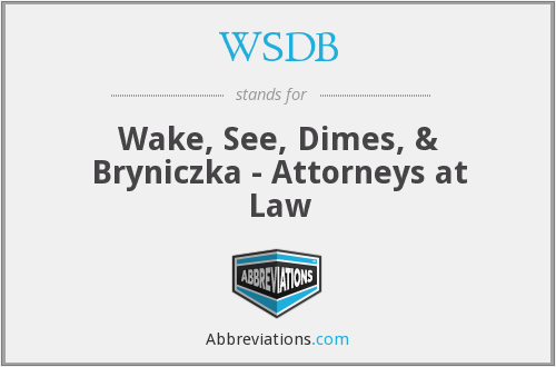 What does WSDB stand for?