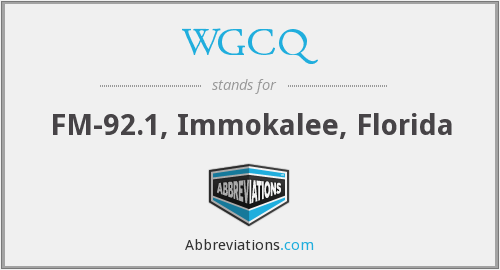 What does WGCQ stand for?