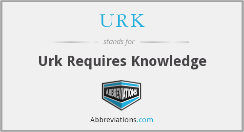 What does URK stand for?
