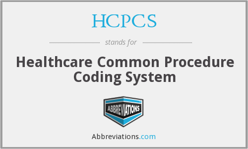 What does HCPCS stand for?