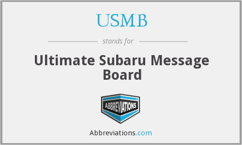 What does USMB stand for?
