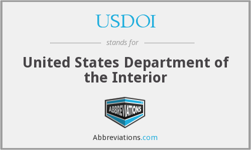 What does USDOI stand for?