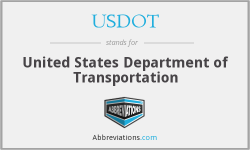 What does USDOT stand for?