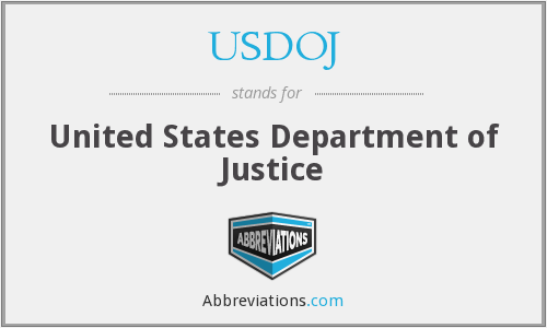 What does USDOJ stand for?