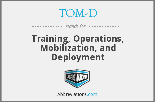 What does TOM-D stand for?