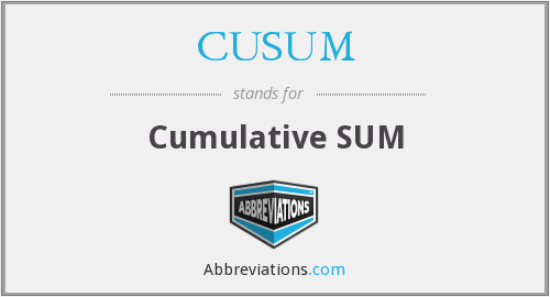 What does CUSUM stand for?