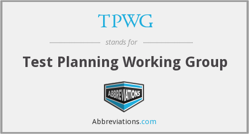 What does TPWG stand for?