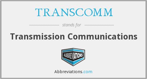 What does TRANSCOMM stand for?