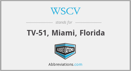 What does WSCV stand for?