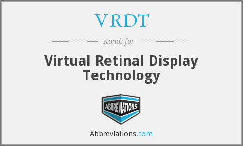 What does VRDT stand for?