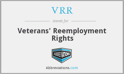 What does VRR stand for?