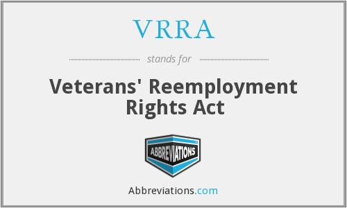 What does VRRA stand for?