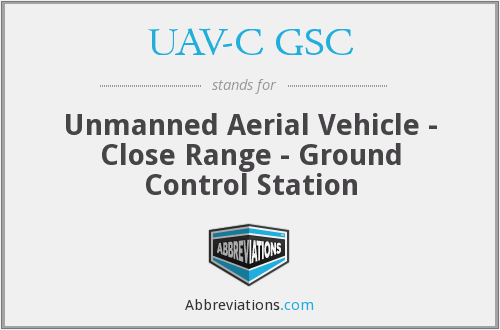 What does UAV-C GSC stand for?