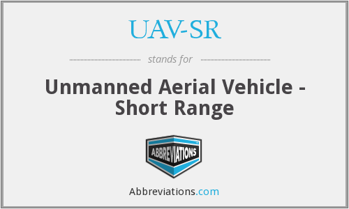 What does UAV-SR stand for?