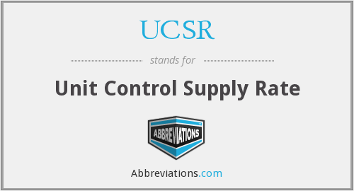 What does UCSR stand for?