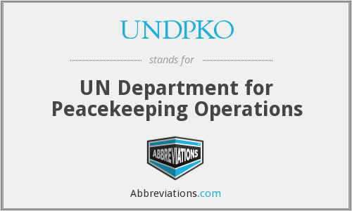 What does UNDPKO stand for?