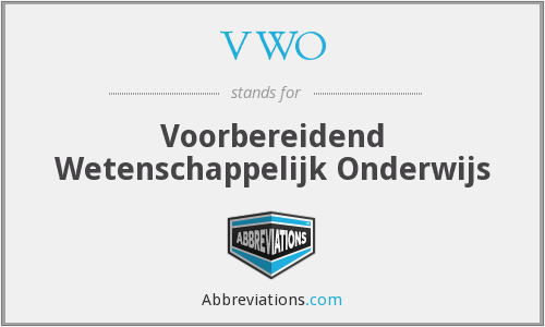 What does VWO stand for?