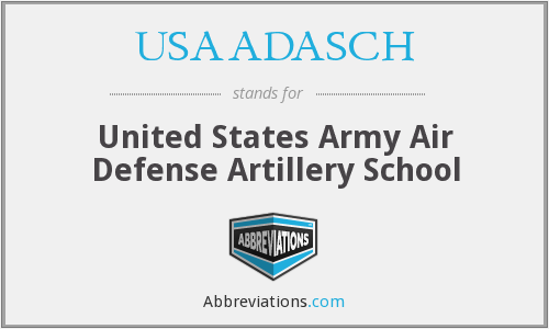 What does USAADASCH stand for?