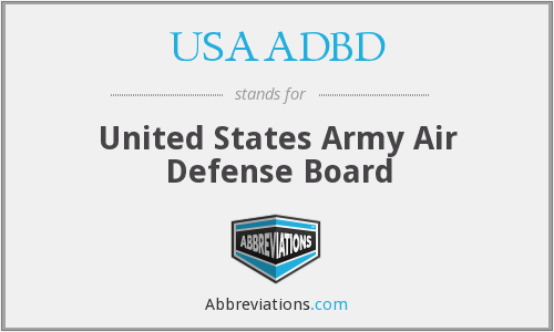 What does USAADBD stand for?
