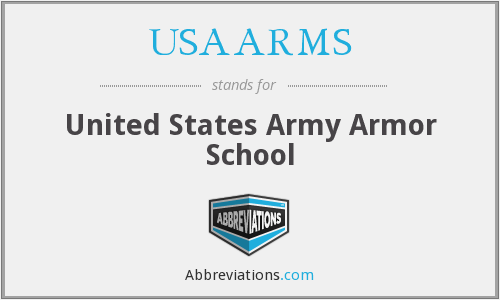 What does USAARMS stand for?