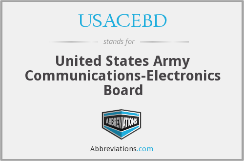 What does USACEBD stand for?