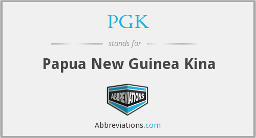 What does PGK stand for?