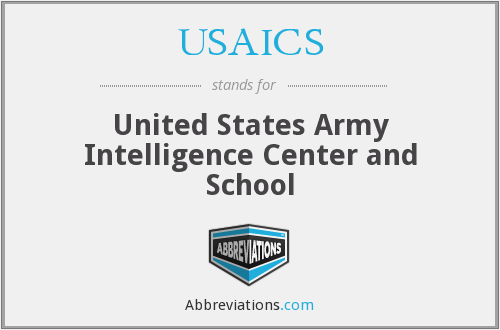 What does USAICS stand for?