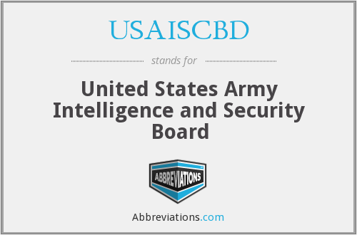 What does USAISCBD stand for?