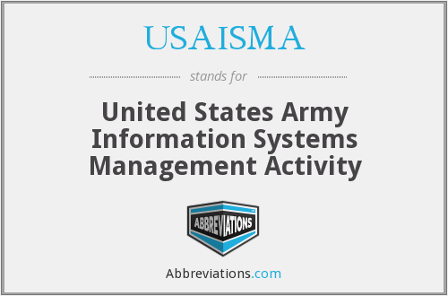 What does USAISMA stand for?