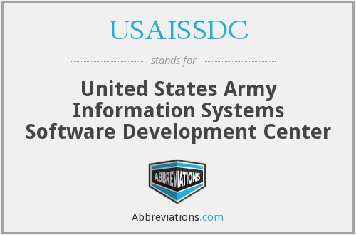 What does USAISSDC stand for?