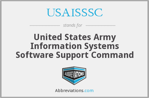What does USAISSSC stand for?