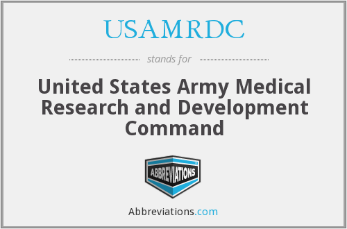 What does USAMRDC stand for?