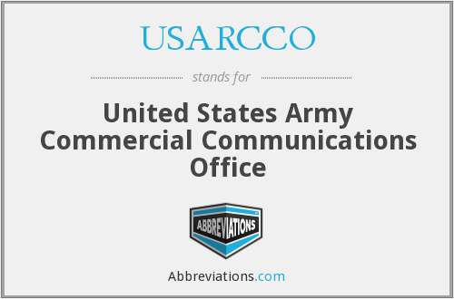 What does USARCCO stand for?