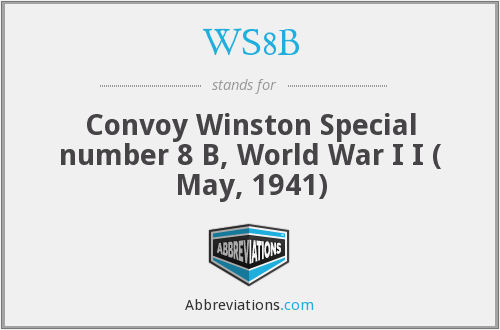 What does WS8B stand for?