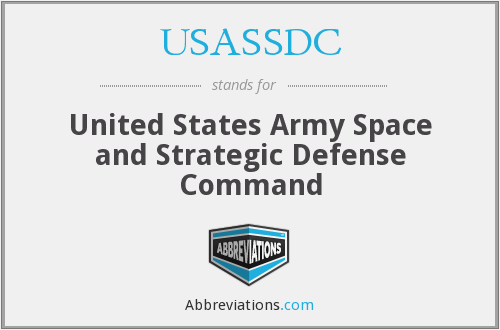 What does USASSDC stand for?
