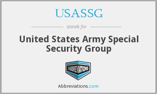 What does USASSG stand for?