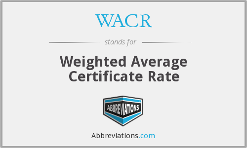 What does WACR stand for?