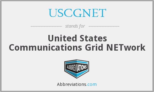 What does USCGNET stand for?