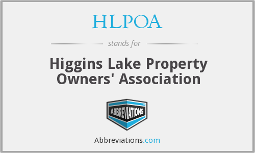 What does HLPOA stand for?