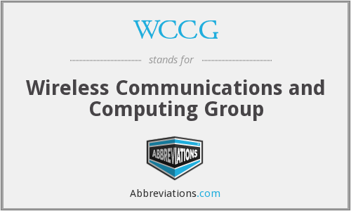 What does WCCG stand for?