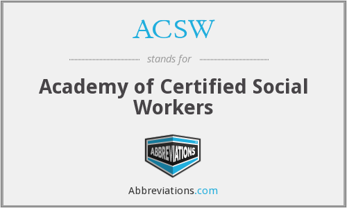 What does ACSW stand for?